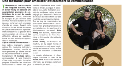 Bulcom article 18 avril 2019 – Gestion du stress et des conflits